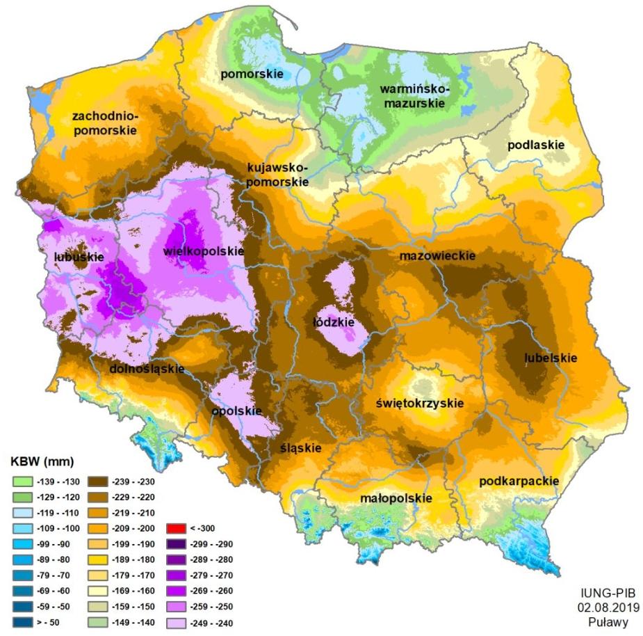 Susza rolnicza na obszarze Polski